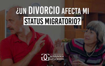 ¿Un divorcio afecta mi status migratorio?